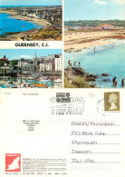 Multiview, Guernsey Postcard Posted 1999 Stamp - Guernsey