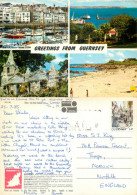 Multiview, Guernsey Postcard Posted 1985 Stamp - Guernsey