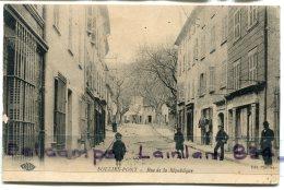 - SOLLIES - PONT - ( Var ), Rue De La République, Enfants, Homme, écrite, 1924, Timbre Taxe, BE, Scans. - Sollies Pont