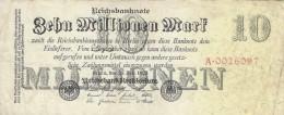 GERMANY 10 MILLION MARK 1923 P-96a VF S/N A*0026097  [ DER097b ] - [ 3] 1918-1933: Weimarrepubliek