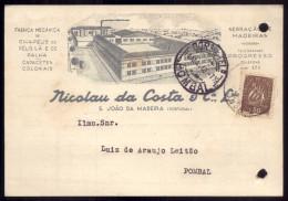 NICOLAU Da COSTA - S.JOÃO DA MADEIRA Postal Comercial FABRICA CHAPEUS De Pelo, Lã E Palha. Capacetes Coloniais PORTUGAL - Porto