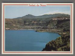 A558 SALUTI DA NEMI IL LAGO E PANORAMA - Altre Città