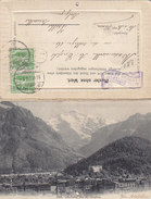 Interlaken  Faltkarte Mit Echten Edelweiss U.a. - Superbouquet - 1908    (P3-01022) - Cartes Postales