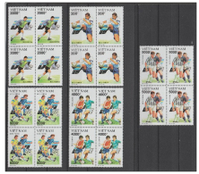 Blocks 4 Of Vietnam Viet Nam MNH Perf Stamps 1992 : European Cup Football (Ms643) - Viêt-Nam