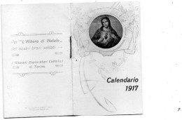 1917  CALENDARIO FORMATO PICCOLO - Formato Piccolo : 1901-20