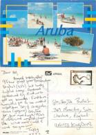 Beach Scene, Aruba, Aruba Postcard Posted 2000 Stamp - History, Philosophy & Geography