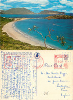 POSTED AT SEA, Little Bay Beach Hotel, St Maarten, Netherlands Antilles Postcard Posted 1972 TRINDAD Meter - Saint-Martin