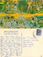 Manuel Viamor Mural, Corozal Town, Belize Postcard Posted 1979 FIELD POST OFFICE FPO 138 Stamp - Belize