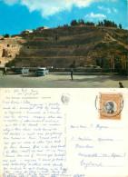 Roman Amphitheatre Cars, Amman, Jordan Postcard Posted 1965 Stamp