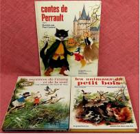 3 X Contes / Histoires - Illustrés Paul Durand / Anne-Marie Dalmais - Contes De Perrault - Les Animaux Du Petit - Livres Pour Enfants