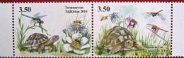 Tajikistan  2016  Turtles  Fauna  2v  MNH - Tadjikistan