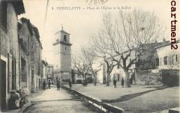 PIERRELATTE PLACE DE L'EGLISE ET BEFFROI + CACHET MILITAIRE 30e REGIMENT D'INFANTERIE VAGUEMESTRE - Francia