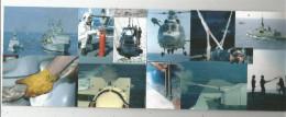 Cp , 4 Pages , Militaria , Bateaux De Guerre , Hélicoptères , Militaires , Marine Nationale , 2 Scans - Militaria