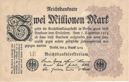 GERMANY 2 MILLION MARK 9.8.1923 P-104a UNC SERIE LE  [ DER104a ] - [ 3] 1918-1933: Weimarrepubliek