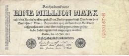 GERMANY 1 MILLION MARK 1923 P-94a S/N B*29110051 F/VF  [ DER092 ] - [ 3] 1918-1933 : Weimar Republic
