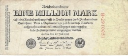 GERMANY 1 MILLION MARK 1923 P-94a S/N B*29110051 F/VF  [ DER092 ] - [ 3] 1918-1933: Weimarrepubliek