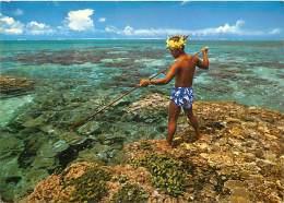 PIE-16 - 1111 : PECHEUR AU HARPON POLYNESIE FRANCAISE - Polynésie Française