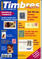 Timbres Magazine N.131,2/2012,Chine,tableau Seul Sur Lettre,année Bissextile,paquebot Fr.,mammifères,type Sage,Marshall - Frans (vanaf 1941)