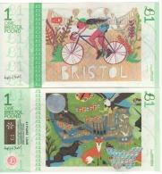"ENGLAND     £1     "" BRISTOL""  Official Local Currency ""  Zoe Power & Susan Taylor' S Art Work 2016.  UNC - 1952-… : Elizabeth II"