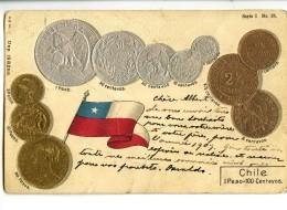 18416   -   Republica De Chile   -   1 Peso - 100 Centavos   -   Monnaies Et Drapeau - Monnaies (représentations)