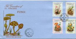 1986-GRENADINE7ST.VINCENT -FUNGI-CHAMPIGNONS F.D.C.. LUXE !! - St.Vincent & Grenadines
