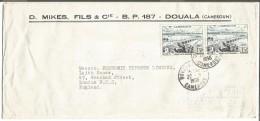 CAMEROUN LETTRE DE DOUALA DEPART POUR LA GRANDE BRETAGNE DU 20/9/1956 - Cameroun (1915-1959)