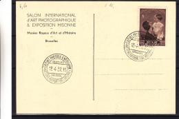 Belgique - Carte Postale De 1937 - Oblitération Exposition Internationale Photographie - Expo Missone - Valeur 25 Euros - Fotografía