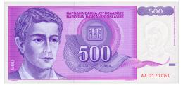 YUGOSLAVIA 500 DINARA 1992 Pick 113 Unc - Yugoslavia