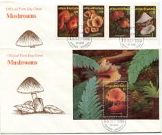 1986-ANTIGUA -FUNGI-CHAMPIGNONS ON 2  F.D.C.. LUXE !! - Antigua And Barbuda (1981-...)