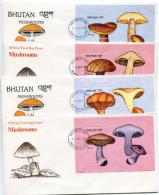 1989-BHUTAN -FUNGI-CHAMPIGNONS ON4  F.D.C.. LUXE !! - Bhutan