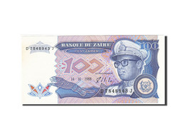 Zaïre, 100 Zaïres, 1988-1992, Adhésif, KM:33a, 1988-10-14, TTB - Zaire