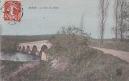 25 BRERE Belle CPA Colorisée  Jolie Vue Sur La Route Et Le PONT Timbre 1909 - Frankreich