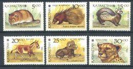 177 KAZAKHSTAN 1993 - Yvert 20/25 - Faune Animaux - Neuf ** (MNH) Sans Charniere - Kazakhstan