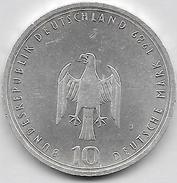 10 Mark Argent 1989 J  800 JAHRE HAFEN UND HAMBOURG - [ 7] 1949-… : FRG - Fed. Rep. Germany