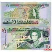 Billets Banque Caraibes Etats De L'est - 5 DOLLARS - Caraïbes Orientales