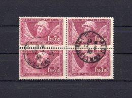 France 1930 Yvert N° 256 Obl. En Bloc De 4 ( 54 ) - France