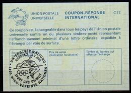 UNITED NATIONS VIENNA  SPORT UND UMWELT / HOCHSPRINGER  FDC 19.7.96 On Int. Reply Coupon Reponse IRC IAS Antwortschein - Athlétisme