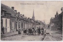 CRECY-SUR-SERRE (Aisne) - Rue Laurent - Attelage D'âne - France