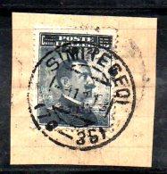 ENR12 - SIMI 1916, Il 20/15 Cent Grigio Nero N. 8 Annullo Originale - Egée (Simi)