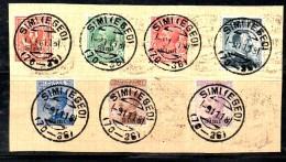 ENR11 - SIMI , La Serie 1/7 Su Frammento Del 9/11/1918 Annullo Originale - Egée (Simi)
