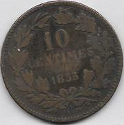 10 Centimes 1855 A - Luxembourg