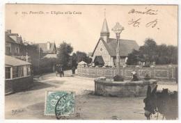 76 - (HAUTOT-SUR-MER) - POURVILLE - L'Eglise Et La Croix - 1904 - France