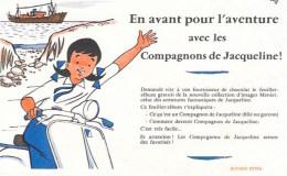 """VESPA  -  BUVARD Publicitaire  """"Compagnon De Jacqueline En Avant Pour L´aventure"""" - Bikes & Mopeds"""