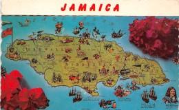 ¤¤  -  JAMAÏQUE   -  JAMAÏCA   -  Carte De L'Ile   -  ¤¤ - Jamaïque