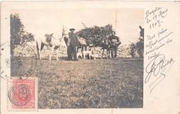 ¤¤  -   COLOMBIE   -   BOGOTA   -  Carte-Photo   -  Péons Avec Leurs Chevaux En 1907  -  Oblitération  -  ¤¤ - Colombia