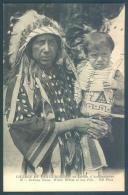 Indiens D'Amérique Nord  Village De Peaux Rouges Indiens Sioux White White Et Son Fils - Indiani Dell'America Del Nord