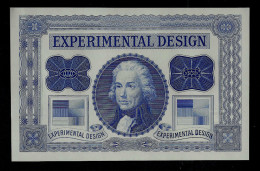 "Test Note, ""EXPERIMENTAL Blau,"", Typ B, Trial, Probedruck, INTAGLIO, RRRRR, UNC, Ca. 140 X 90 Mm, Essay, Uniface. - Ver. Königreich"