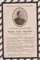 6AI4087  IMAGE PIEUSE RELIGIEUSE Mortuaire  MME PRUVOST 1917  2 SCANS - Images Religieuses