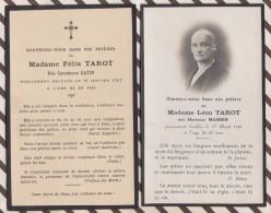 6AI4090  IMAGE PIEUSE RELIGIEUSE Mortuaire  MME LEON TAROT MAHIER 1931 MME FELIX TAROT GATIN 1927 Lot 2 Images  2 SCANS - Santini