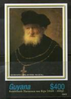 Guyana 2006 Rembrandt Painting Man & Jewelled Cross Art M/s Sc 3938 MNH # 12860
